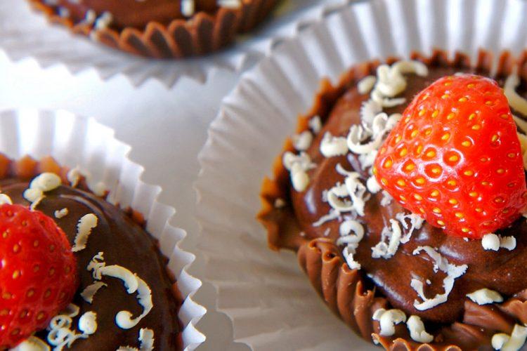 Receta de tartaleta de chocolate y fresas